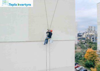 Услуги альпинистов в Киеве по утеплению фасадов